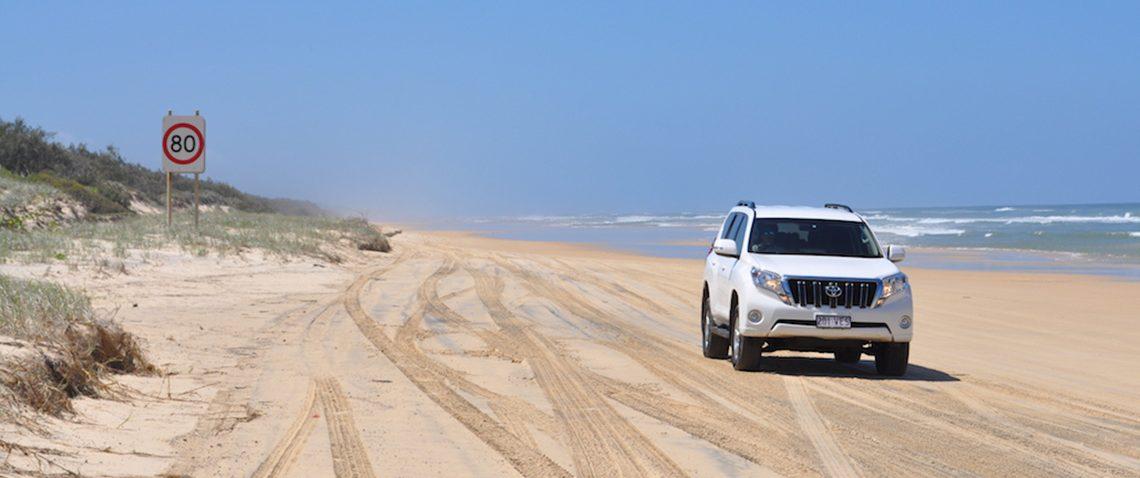 Fraser Island sand highway