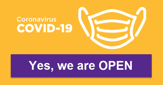 Coronavirus - Yes we are open